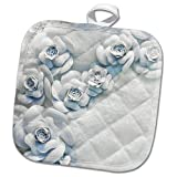 3dRose Danita Delimont - Flowers - Floral holiday window display, New York City, NY, USA. - 8x8 Potholder (phl_259790_1)