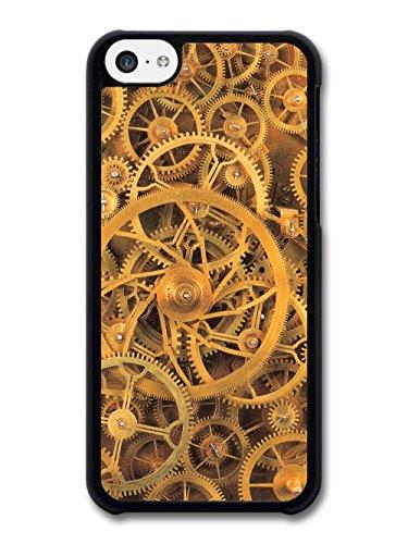 Vintage Retro Steam Punk Golden Gears Cogs Design case for iPhone 5C