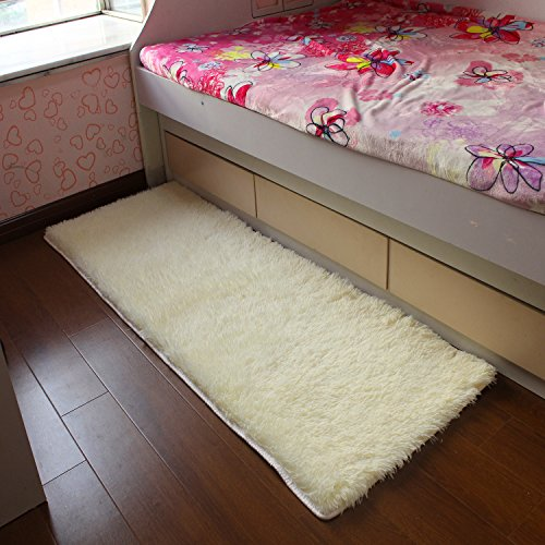 Gracallet Ultra Soft 4.5 CM Thick 2362 Inch-WhiteSuper Soft Shaggy Fluff Rectangle Shape Carpet/Floor Rug/Living Room Carpet/Sitting Room Rug/Bedroom Area Rug