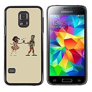Paccase / Dura PC Caso Funda Carcasa de Protección para - Gas Mask Teddy Bear Apocalypse Art Couple Love - Samsung Galaxy S5 Mini, SM-G800, NOT S5 REGULAR!
