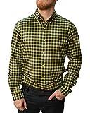 Polo Ralph Lauren Mens Plaid Twill L/S Button Down Shirt-Yellow/Navy-Medium