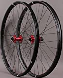 WTB Asym i29 29er Mountain Bike Wheelset Red Novatec Hubs Thru Axle or QR