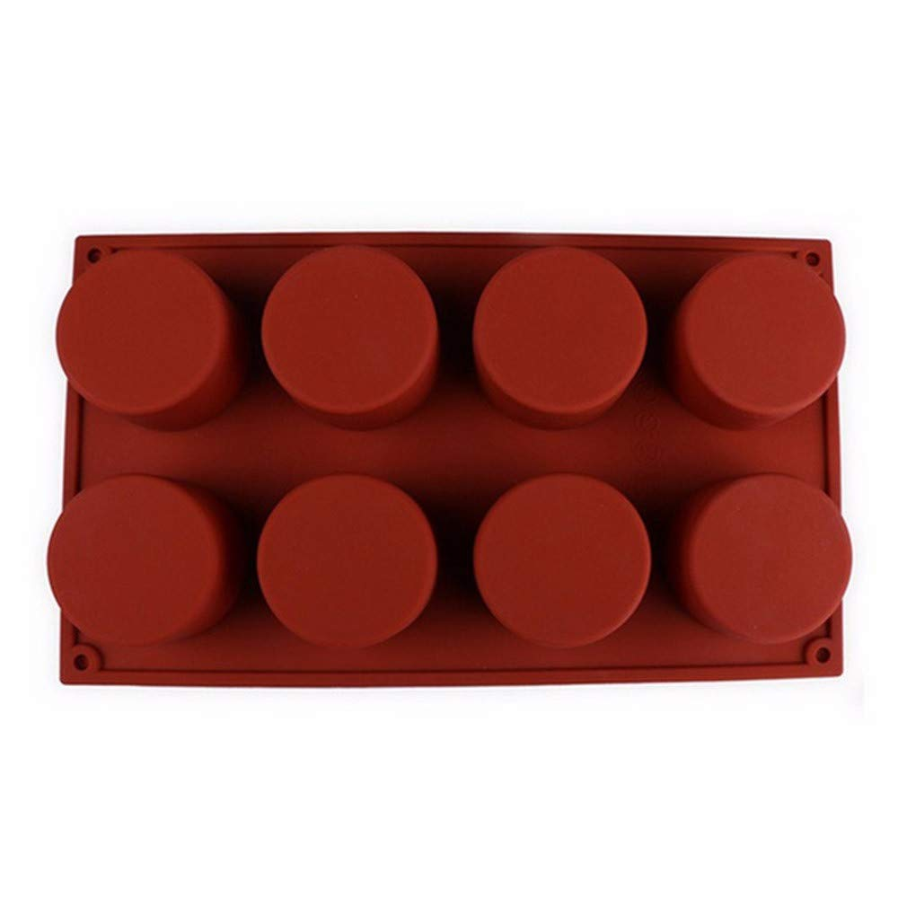 8-Cavity Oval Shape Soap Mold Silicone Chocolate Mould Tray Homemade Making DIY Baking Mold/Baking Pan for Soap, Cake, Bread, Cupcake, Cheesecake, Cornbread, Muffin & Brownies (Coffee) Beodole