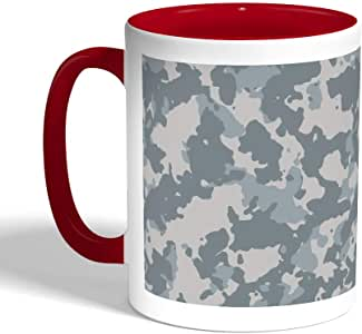 Army clothing Printed Coffee Mug, Red Color (Ceramic)