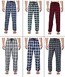 Robes King RK Classical Sleepwear Men's 100% Cotton Flannel Pajama Pants,