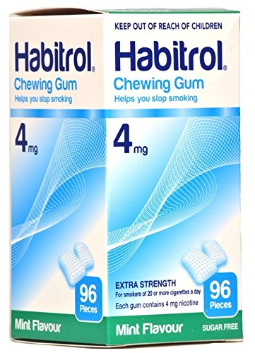 Habitrol 4mg MINT Flavor Nicotine Quit Smoking Chewing Gum. 6 Boxes of 96 each (576 pieces)