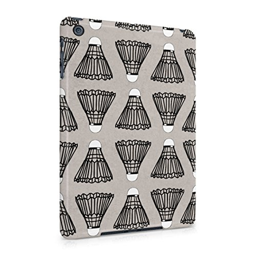 (Indoor Outdoor Badminton Shuttlecock Birdie Pattern Plastic Tablet Snap On Back Case Cover Shell For iPad Mini)