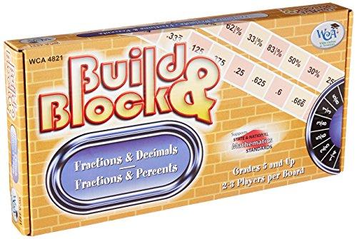 Learning Advantage Mental Math Board Game, Build & Block! Fraction & Decimals/Fractions & Percents