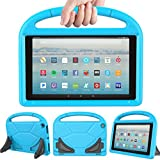 LEDNICEKER Kids Case for Fire HD 10 2017 - Light Weight Shock Proof Handle Friendly Convertible Stand Kids Case for Fire HD 10.1 inch (7th Generation, 2017 Release) - Blue