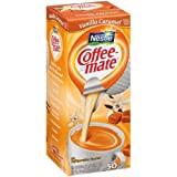 Coffee Mate Creamer Vanilla Caramel, 0.374 Fluid Ounce - 4 per case.