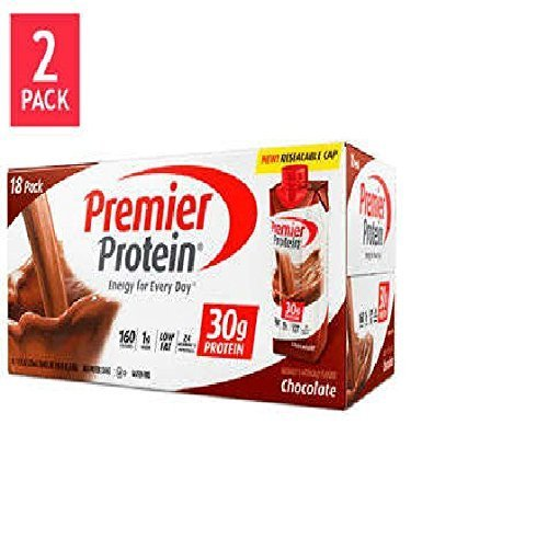 Premier Protein Chocolate Shakes 2-18PKS (36 - 11oz. Shakes) (Best Chocolate Protein Shake Recipe)
