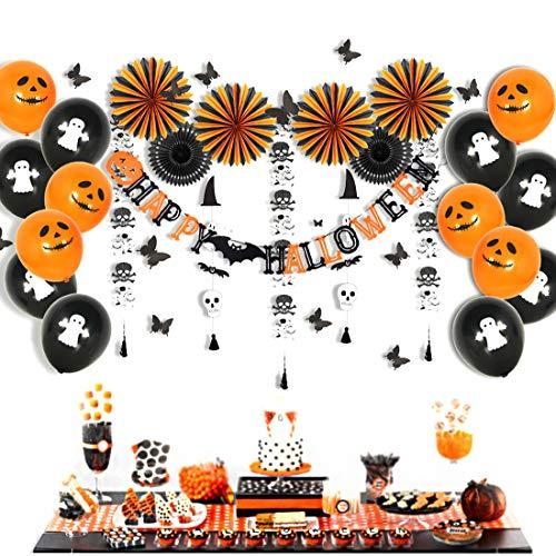 BESTOYARD Creepy Decorations Set Hanging Severed Head Hand Leg Balloons Banner per Halloween Theme Party Giochi d'imitazione 3