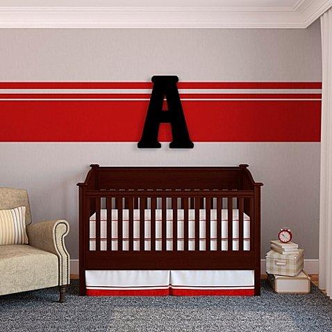 "Oversized Black Wood Letter Wall Art ""A"""