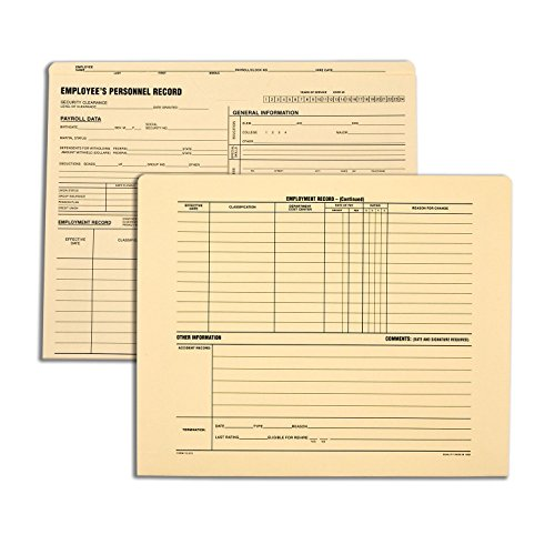 Quality Park, Personnel File Folder, Manila, 9.5x11.75, 11pt, 25 per box (70010) -