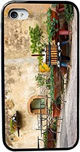 Rikki KnightTM Cute Italian Scene Design iPhone 5 & 5s Case Cover (Black Rubber with bumper protection) for Apple iPhone 5 & 5s