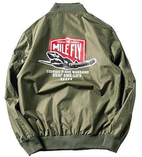 Jinmen Men's Military Flight Coat US Force MA1-Bomber Jac...