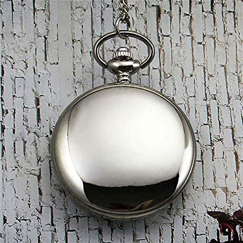 Antique Gold Hunter Case - Smooth Black/Silver Case Quartz Pocket Watch   Fob Watch Clock Arabic   Full Hunter Gift Box