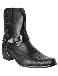 Western Style Boots New Upgrade Premium PU-Leather Cowboy Dress Shoes
