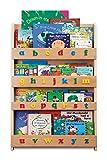 Tidy Books - Kids Bookshelf   Wood Bookshelf with 3D Color Alphabet   Bookshelf for Kids - 45.3 x 30.3 x 2.8 in   ECO Friendly   HANDMADE - The Original since 2004