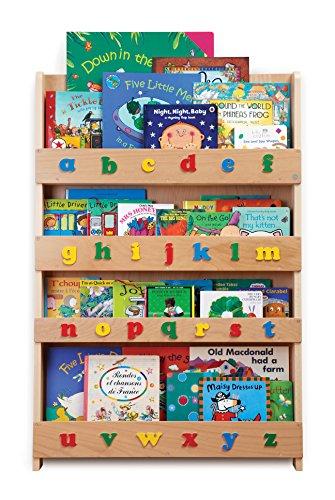 Tidy Books - Kids Bookshelf | Wood Bookshelf with 3D Color Alphabet | Bookshelf for Kids - 45.3 x 30.3 x 2.8 in | ECO Friendly | HANDMADE - The Original since 2004 Board Books Case Pack