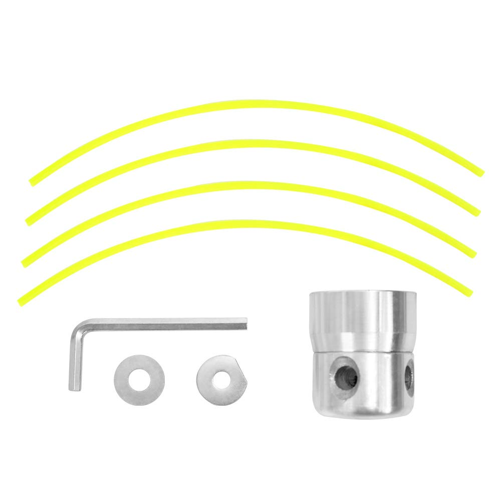 KKmoon Accesorios de Cortacésped cilíndricos de Aluminio Brillante ...