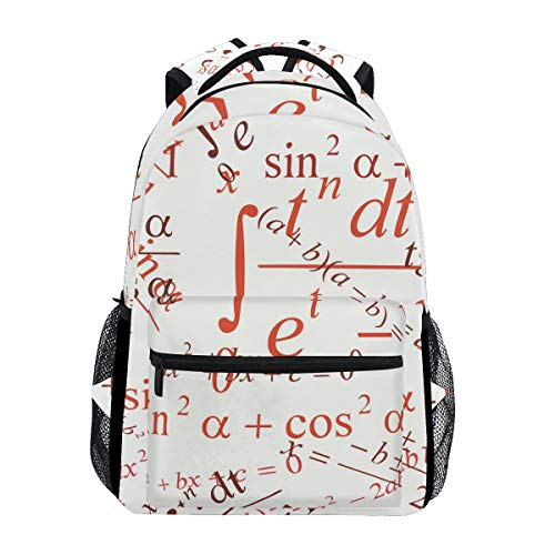 Math Formula Backpack Student Schoolbags Travel Shoulders Bags for Women Men