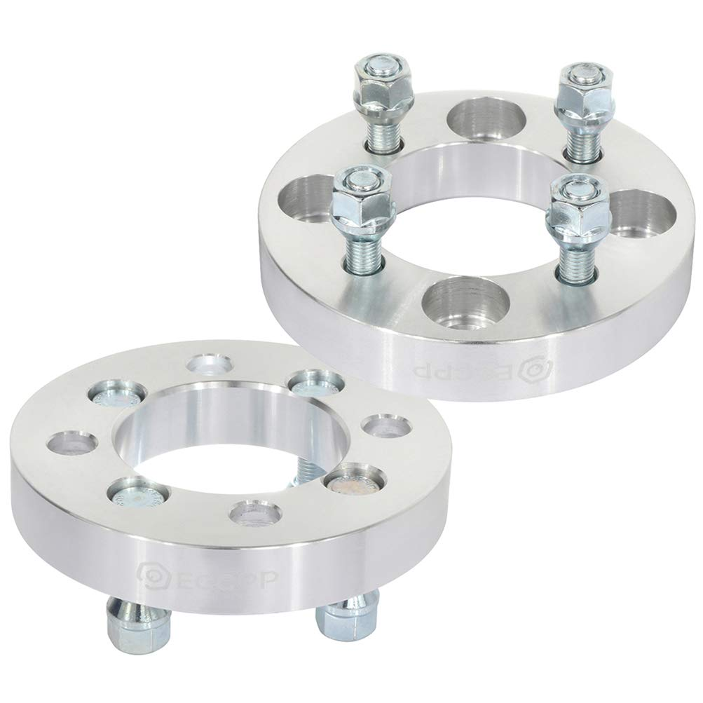 ANGLEWIDE 1 inch Wheel Spacers Adapters 4 Lug 4x108 to 4x100 12x1.5 Studs 78.1mm fits for Ford Mustang Ford Focus Ford Escort
