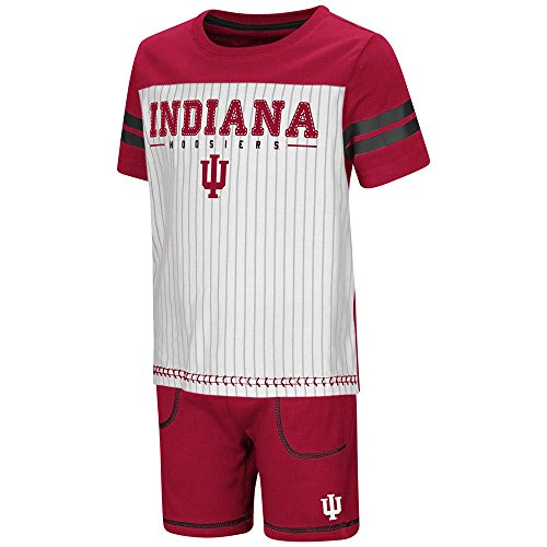 Toddler Indiana Hoosiers Pinstripe Tee Shirt and Shorts Set - 3T - Indiana Hoosiers Pins
