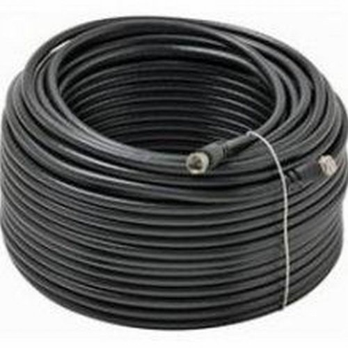 Black Point Products BV-088 150-Foot RG-6 H.D. Coax with Fittings, Black by Black Point Products