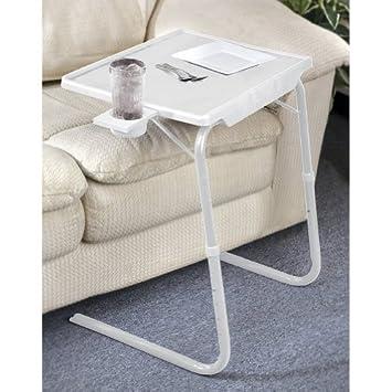 Portable U0026 Foldable Comfortable Tv Tray Table (White)