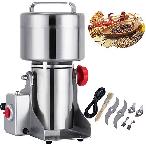 in 750g Mill Grinder Powder Machine 2500W 50-300 Mesh Food Grade 25000RPM Stainless Steel for Kitchen Herb Spice Pepper Coffee ()