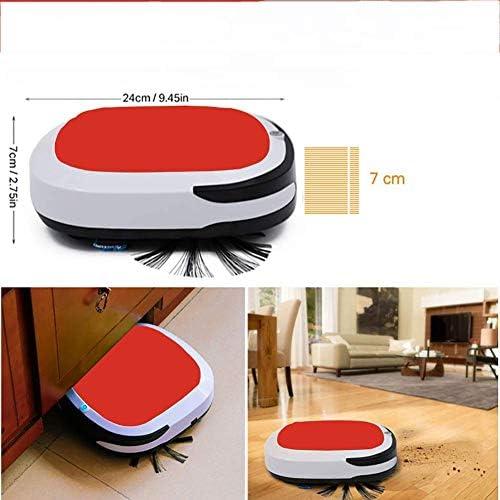 LEIXIN Sweepe Automatique Robot Aspirateur Automatique Intelligent Balayer Robot Accueil Balayer Machine à Faible Bruit intérieur, Rouge