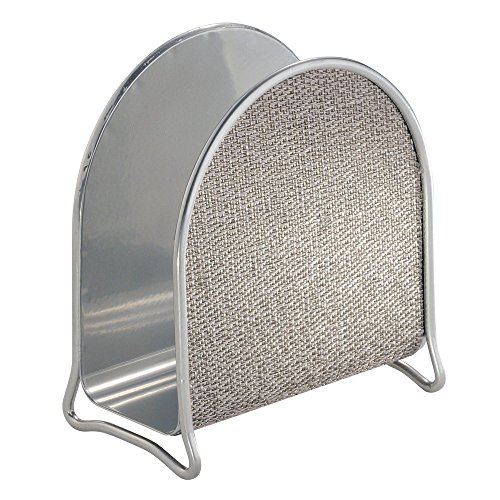 InterDesign Twillo Napkin Holder for Kitchen Countertops, Table - Metallico