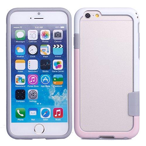 Colorfone PREMIUM Bumper Fit1 / Coque / Case / Cas / Pare-chocs / Housse / Etui / Protection / Anti choc pour Apple iPhone 6 ClairRose + Blanc