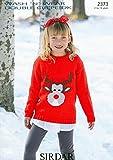 Sirdar Wash n Wear DK Children's Christmas Sweater Knitting Pattern 2373