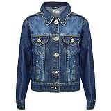 A2Z 4 Kids Kids Girls Designer's Trendy Fashion Jeans Jacket Coats - Girls Denim Jacket J12 Dark Blue 11-12