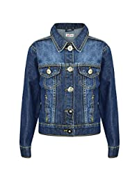 7f6663a1a6 Kids Girls Jackets Designer Denim Style Fashion Blue Jeans Jacket Coats  3-13 Yr