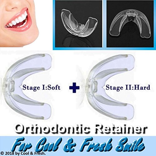 High-tech Dental Orthodontic Braces - Transparent Soft and Hard - For Adults Teeth Straightening ()