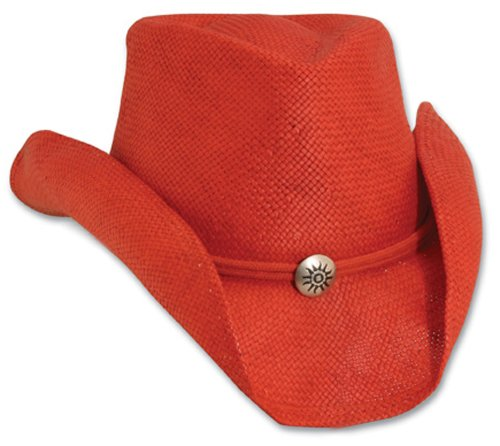 Small/Medium Red Soft Toyo Western Hat with Chin Cord