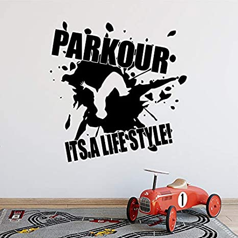 Zhuhuimin Parkour Are a Lifestyle Vinilo para la Calle Plotter Sport Vinyl Decal Home Kids Room Decoración Interior Dormitorio Impermeable 42x43cm: Amazon.es: Hogar