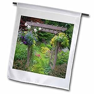Danita Delimont - Gardens - Garden designs, Sammamish, Washington - US48 DGU0171 - Darrell Gulin - 12 x 18 inch Garden Flag (fl_95370_1)