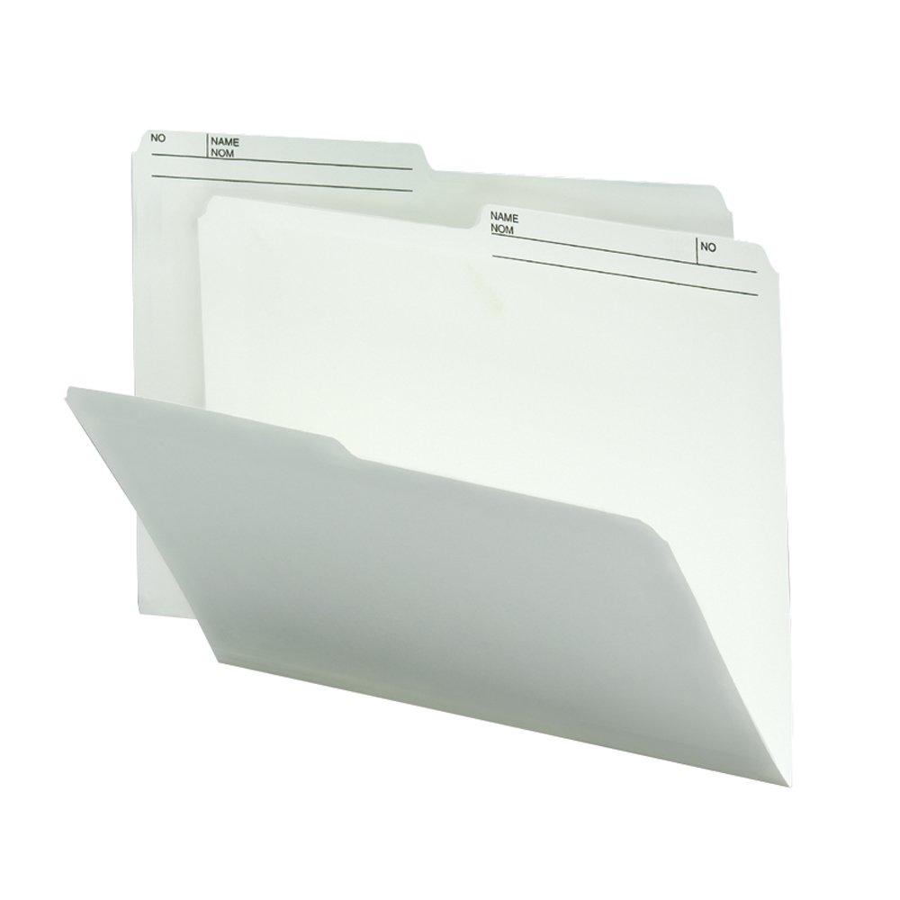 Smead 10146 File Folder, Letter, 1/2-Cut, 2 Reversible Tab, Ivory, 100 Per Box Smead CA