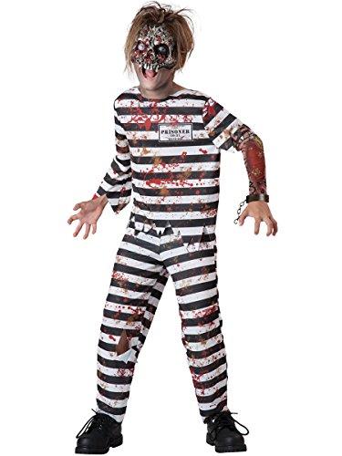 InCharacter Costumes Creepy Convict Costume, One Color, Size 6 (Boys Prisoner Costume)