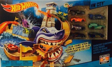 Hot-Wheels-7-Color-Shifters-Color-Change-Action-Sharkport-Showdown-HW-City