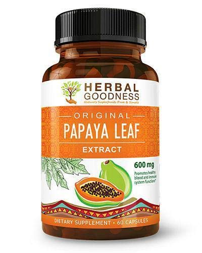 Papaya Leaf Extract – SuperFruit Natural Blood Platelet Boost, Bone Marrow Support, Immune Gut & Digestive Enzymes…