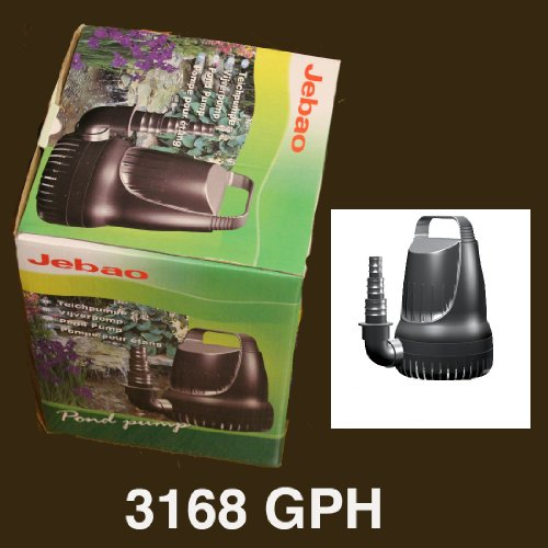 3168 GPH Submersible Pump for Koi Goldfish Pond Waterfall Jebao JGP12000 by Jebao