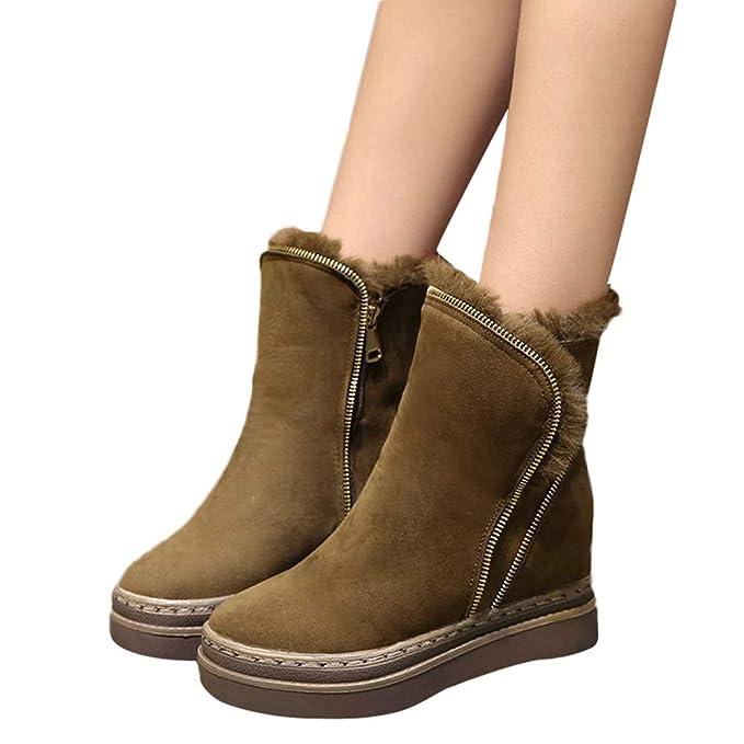 Warme Geili Kurzschaft Damen Flausch Stiefel Stiefeletten OPXkiuZ