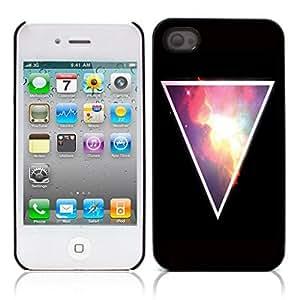 Hipstr Nebula Hard Plastic and Aluminum Back Case for Apple iphone 4 4S