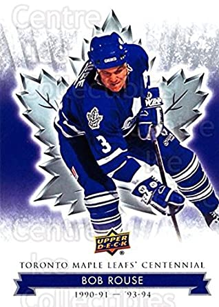 pick up 4162c 6fb19 Amazon.com: (CI) Bob Rouse Hockey Card 2017-18 Toronto Maple ...