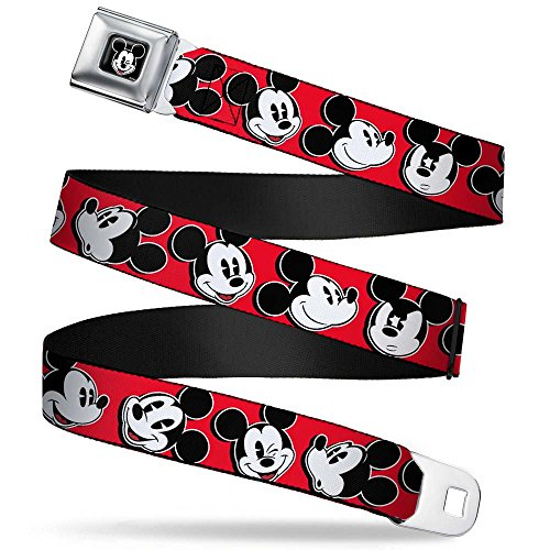 Mickey Mouse Expressions Red/black/white Seatbelt Belt